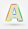 Alphabet letter A Watercolor paint design element vector image vector image