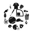 american football black simple icons vector image vector image