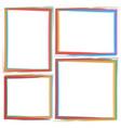 art brush frame vector image vector image