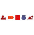 bags icon set color outline style vector image vector image