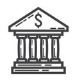 bank building line icon business and finance vector image vector image