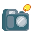 Camera in Flat Design vector image vector image