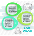 car wash service ads page flyer background vector image vector image