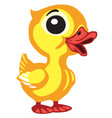 cartoon little duck vector image vector image