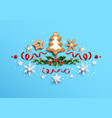 christmas tree gingerbread vector image vector image