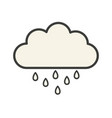cloud icon with rain vector image vector image
