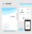 code business logo file cover visiting card and vector image