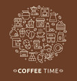 coffee and tea poster template vector image vector image
