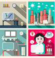 Creative Education Room Flat Design with Sec vector image vector image