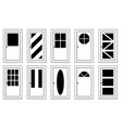 different doors vector image