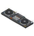 dj mixer isometric view vector image