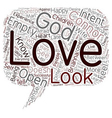 Do You Experience God text background wordcloud vector image vector image