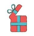 drawing pink gift box wrap ribbon vector image vector image