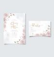 elegant wedding invitation card with hand drawn vector image