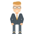 Embarrassed young businessman vector image vector image