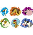 farm animals set vector image vector image