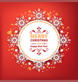 festive decorative frame with snowflakes for new vector image vector image