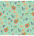 floral pattern light green vector image vector image