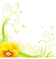 Floral summer background with yellow violet flower vector image vector image