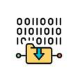 folder coding file upload flat color line icon vector image