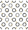 glitter gold chaotic ring christmas new year vector image vector image