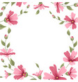 gypsophila babys breath flower border frame wreath vector image