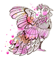 Hand drawn decorative bird vector image vector image