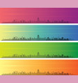 havana multiple color gradient skyline banner vector image