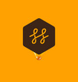 honey logo hexagon comb emblem vector image
