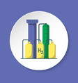 hydrogen plant icon in flat style on round button vector image vector image