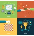 Icons for education work strategy victory vector image vector image