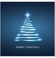 Illuminated Christmas tree winter background vector image vector image