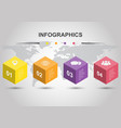 infographic design template with cubes vector image vector image