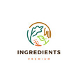 ingredients logo icon vector image