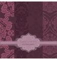 Invitation card with delicate crochet ornament vector image
