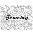 jewelry line art design vector image