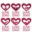 love logo vector image vector image