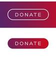 Modern Donate button flat vector image
