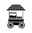 Popcorn cart black simple icon vector image vector image