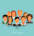 project team flat avatars vector image