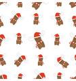 seamless christmas deer pattern vector image vector image
