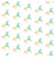 seamless pattern from rainbow unicorns vector image vector image