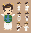 Set of angel characters poses vector image vector image