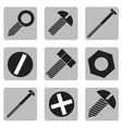 set of icons with hardware vector image vector image