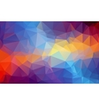 shades blue and orange abstract polygonal vector image vector image