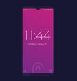 smartphone with lock screen mockup vector image