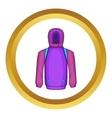 Snowboarder jacket icon vector image vector image