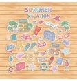 Summer vacation scrap setScrapbook setSticker vector image