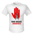 T shirts raredisease awareness vector image vector image