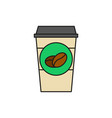 take away cup coffee thin line icon vector image